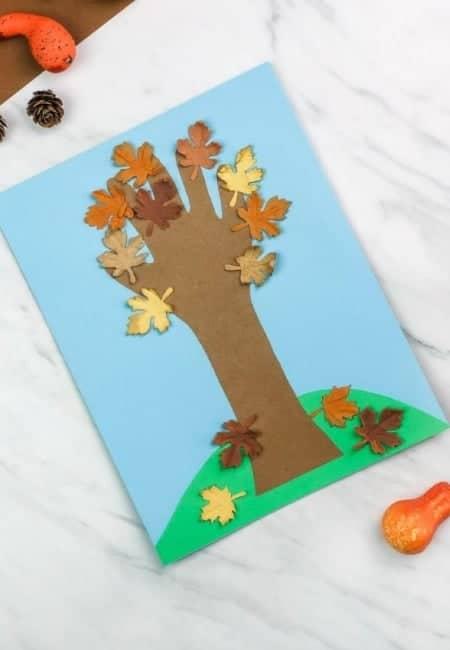 toddler handprint tree