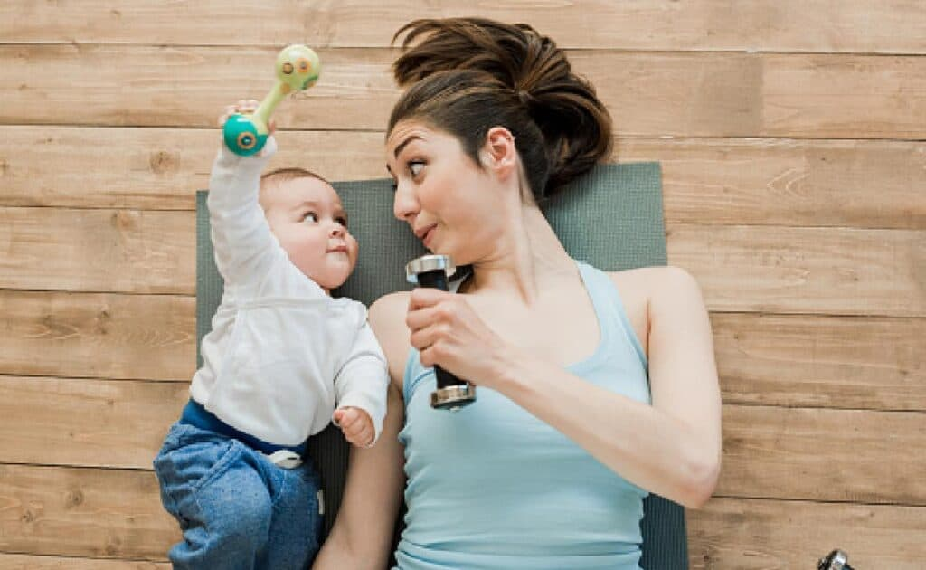 postpartum workout mom and baby