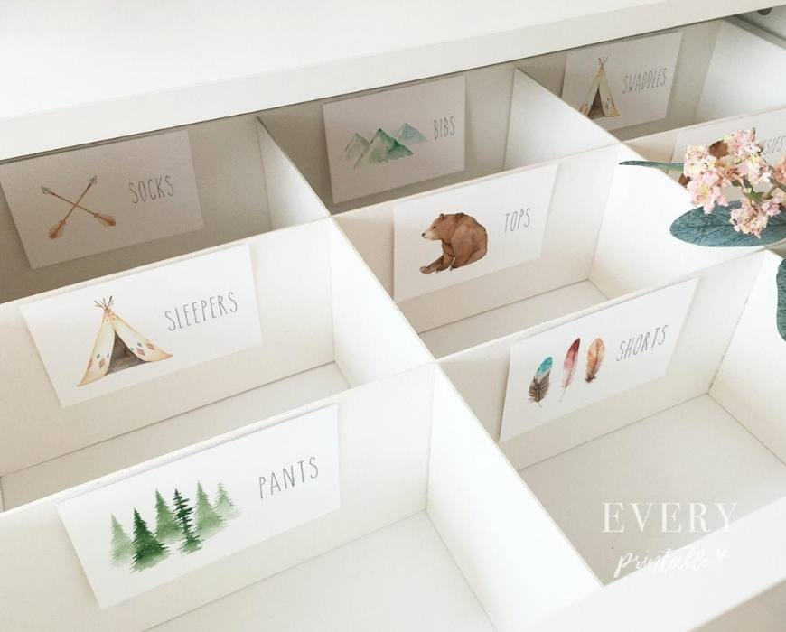 nursery drawer labels