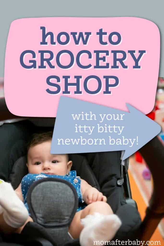 Shopping with your newborn baby - tips to make it easier