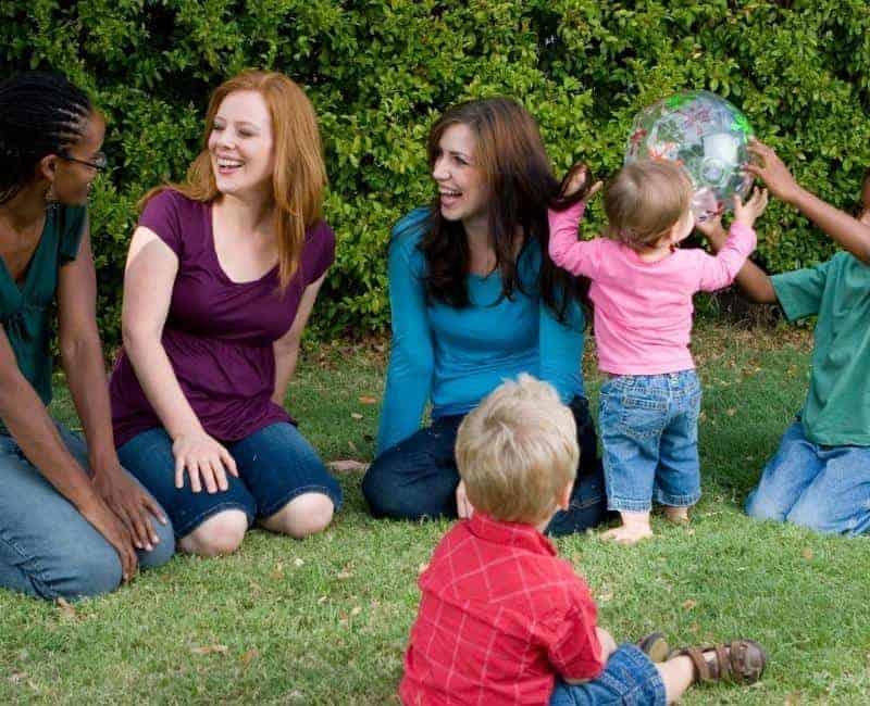 mom friends having a playdate