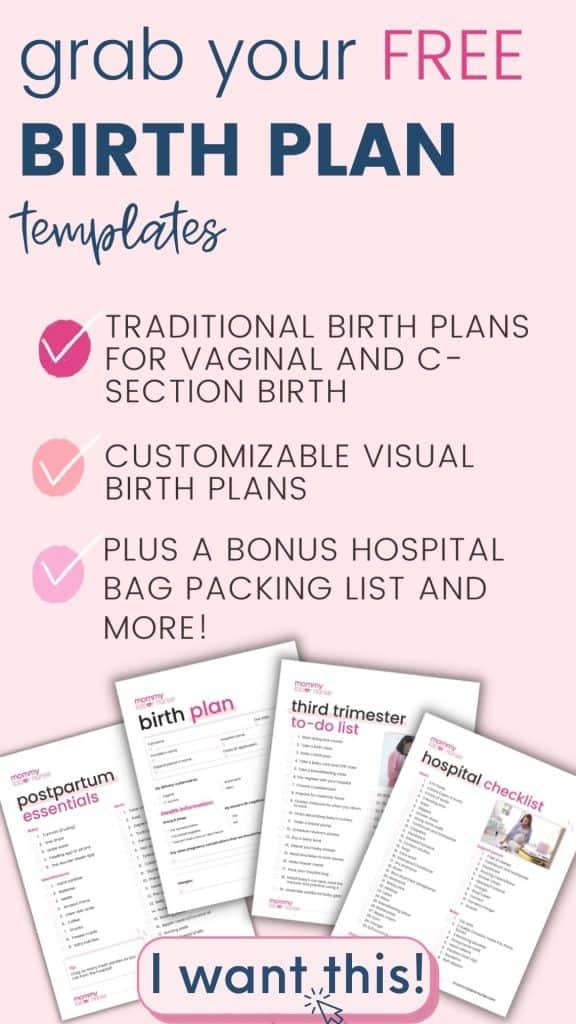 mommy labor nurse birth plan