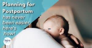 planning for postpartum