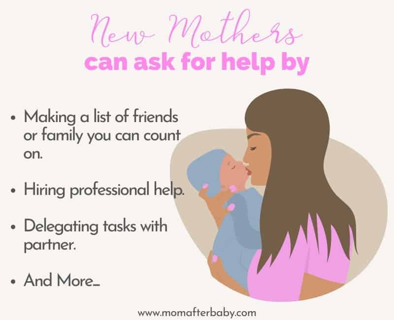 how to ask for help as a new mom