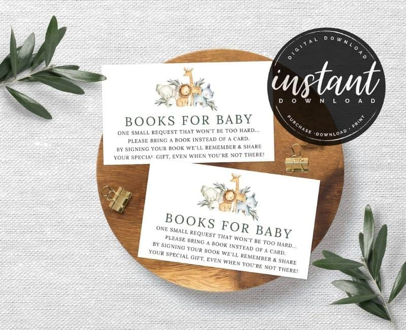 Books for baby printable etsy