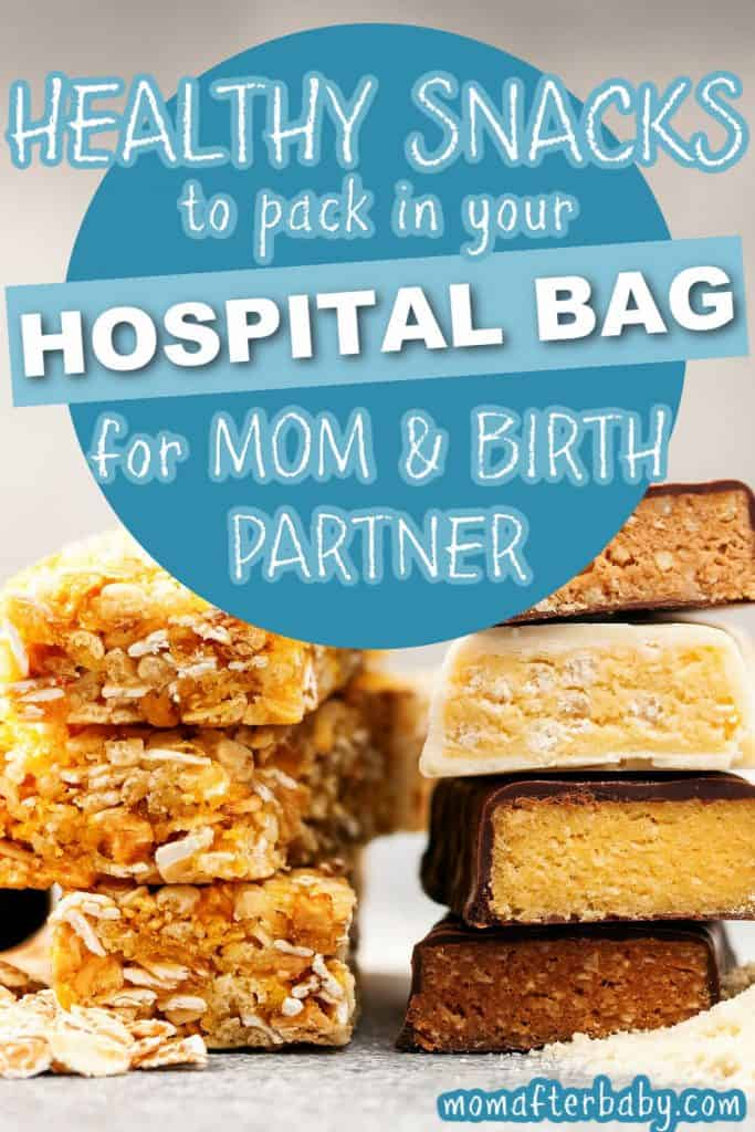 20 healthy snacks to pack in your hospital bag