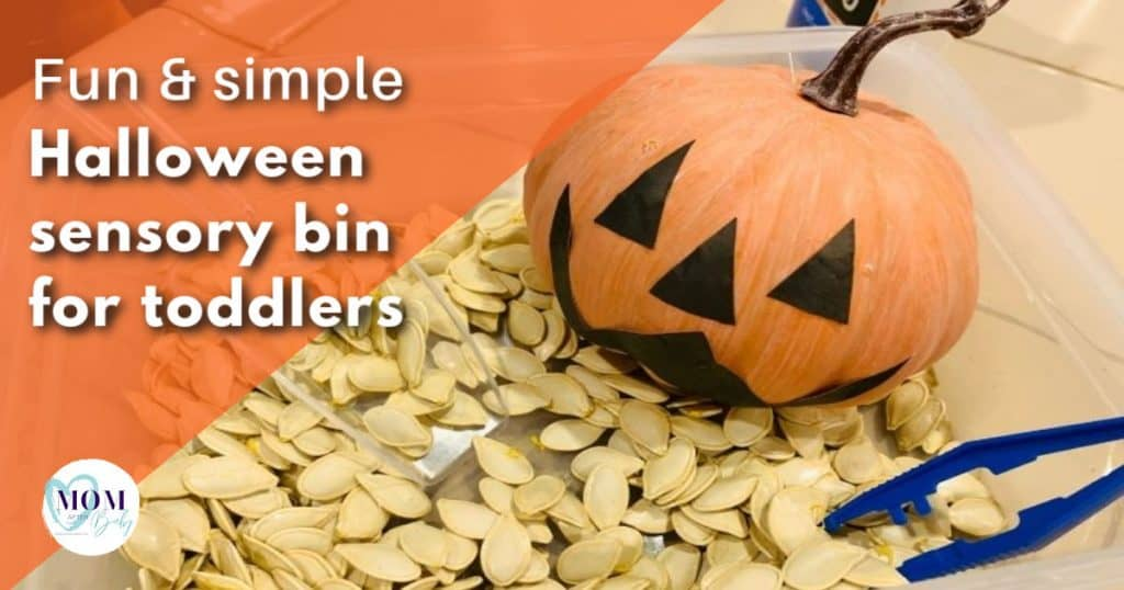halloween sensory bin for toddlers - mom after baby