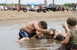 kids playing in mud