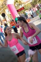 ffemale runner wearing pink