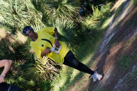 older women in yellow jogging
