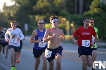 shirtless runner