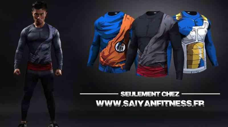 Soyez un vrai Saiyan ! Vêtements Saiyan Fitness