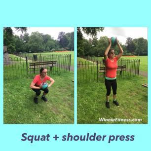 Alice squat shoulder press pt leatherhead
