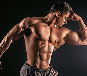 Bodybuilder Shows His Symmetric Strength Muscles