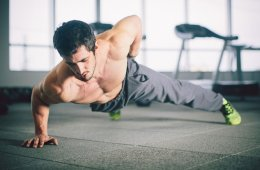 Man Doing Chest Exercise Workout