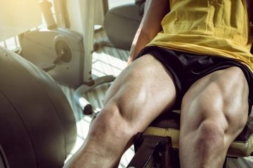 Man Showing His Strong Leg Muscles