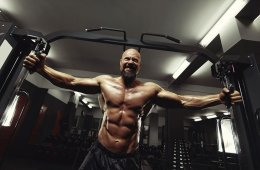 Man Using Cable Machine For Fitness