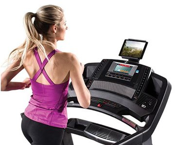 Woman Working Out NordicTrack 1750