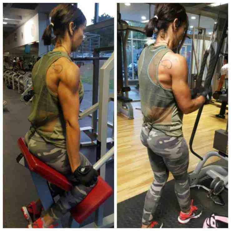 Tercia Dawes gym workout