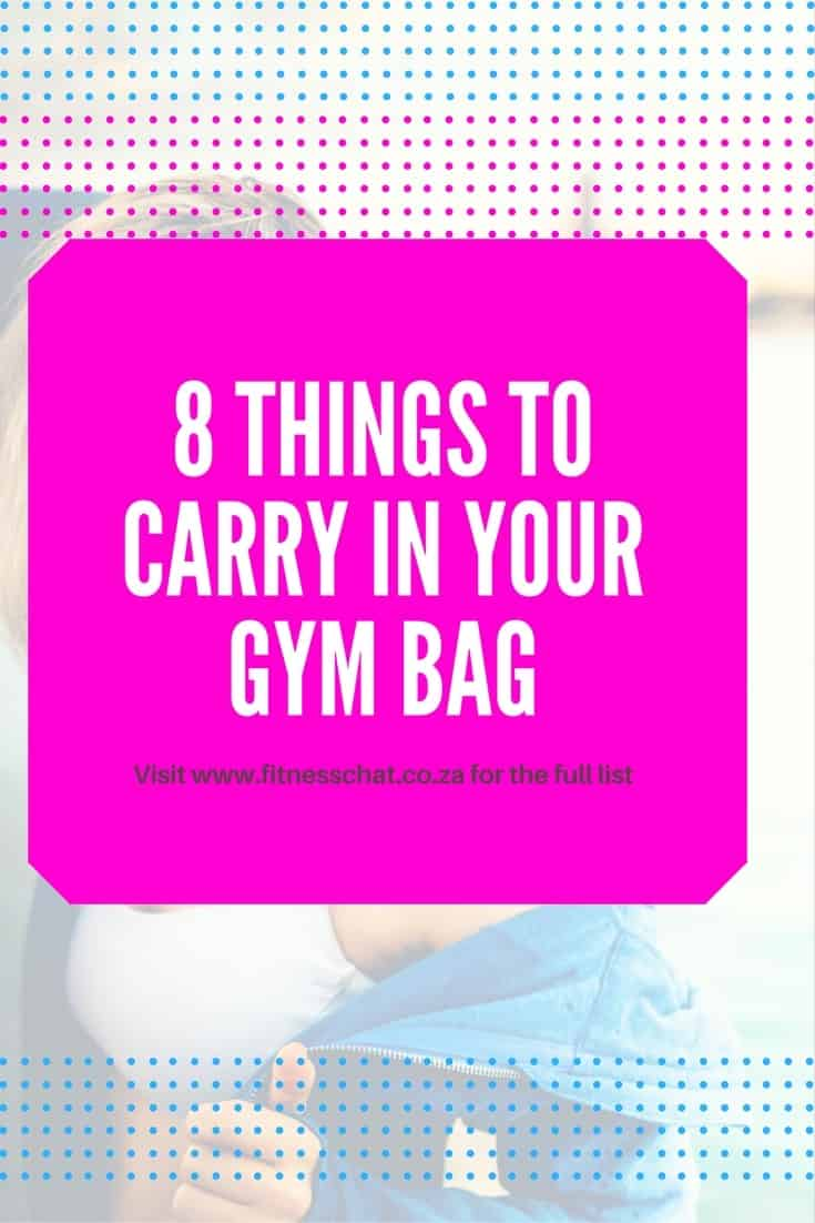 8 things to carry in your gym bag