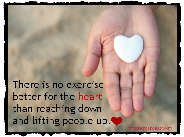 Reach down and lift someone up.