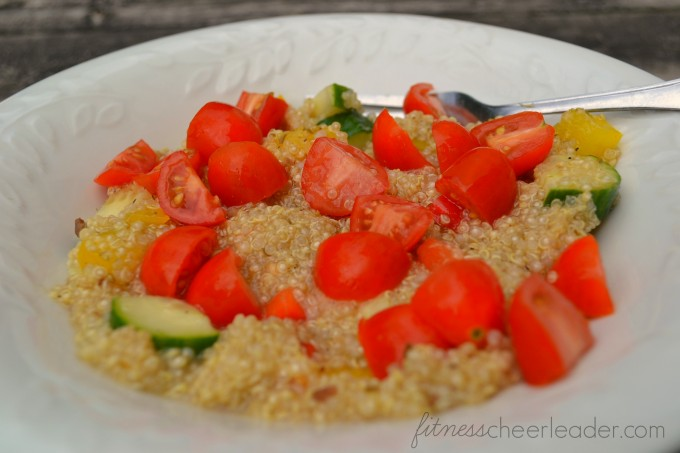 This Greek Quinoa Salad has all the same flavors as a traditional Greek Salad, but I added quinoa. I love the texture and heartiness the quinoa adds. It is great served alongside grilled vegetables, chicken, or fish, or can be enjoyed on its own.