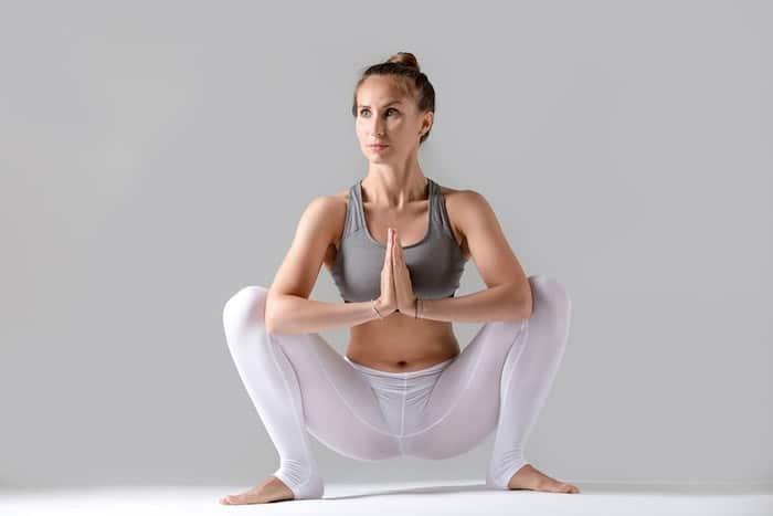 yoga standing garland pose