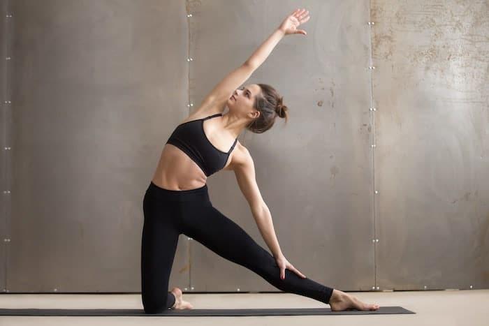 yoga standing gate pose