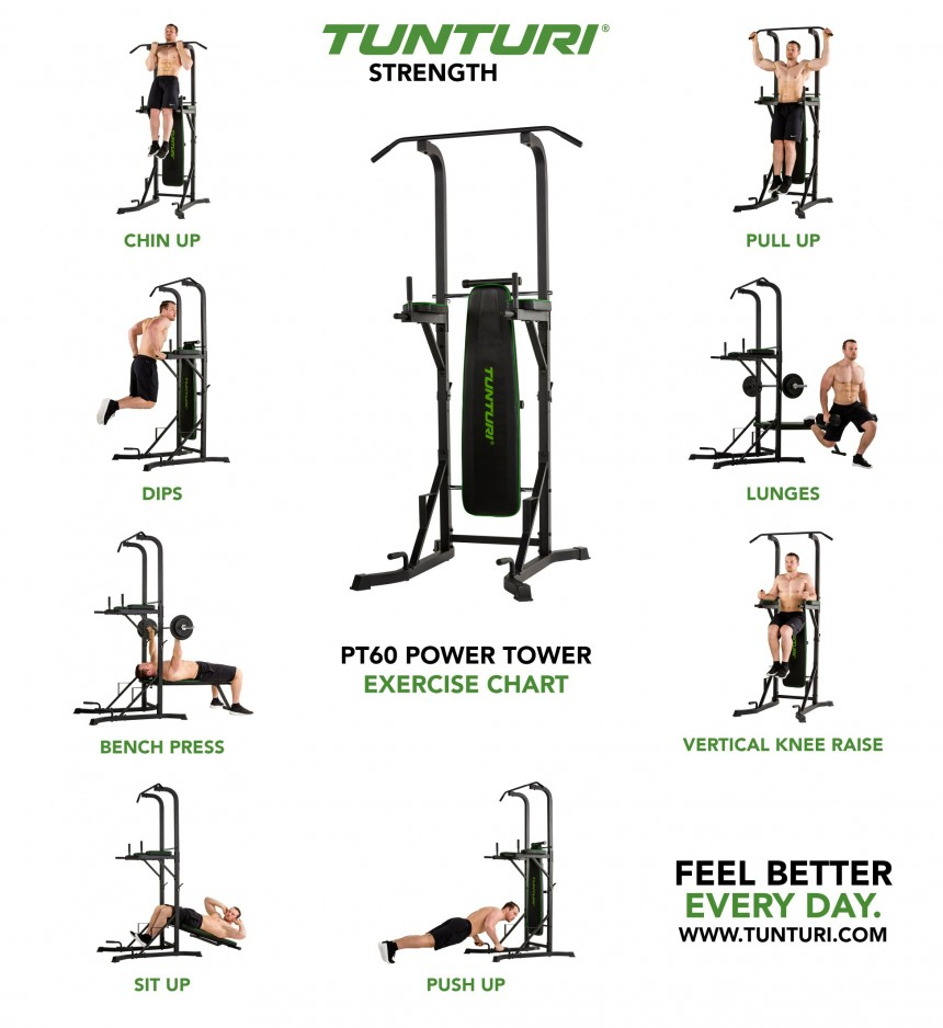 Tunturi Pt60 Power Tower Fitness Equipment Ni