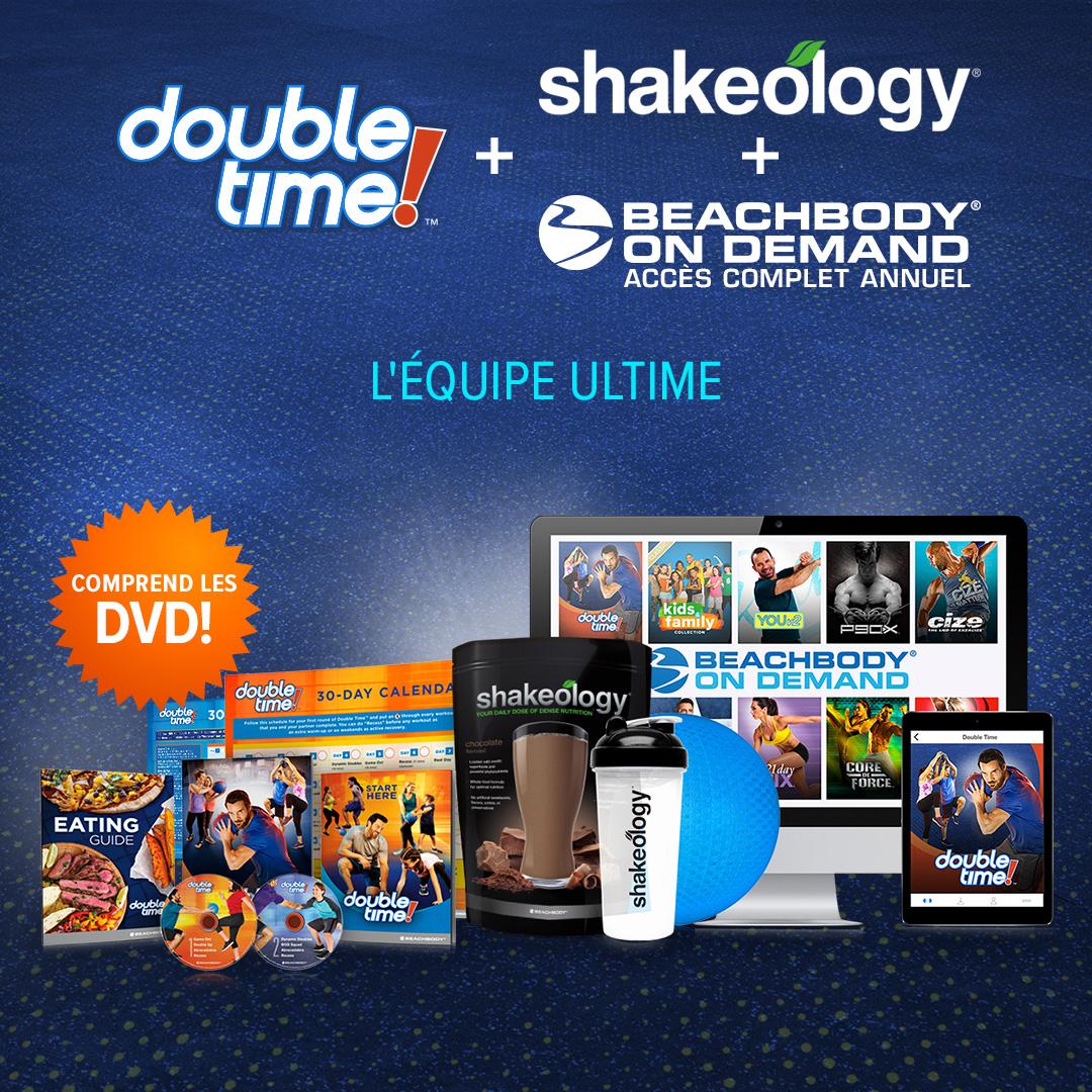Double Time BOD Accès Illimité + Shakeology + DVD