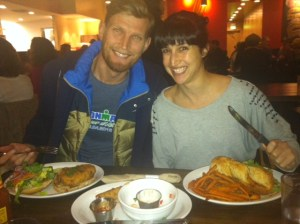 Asia and Jeremy with their Feast!