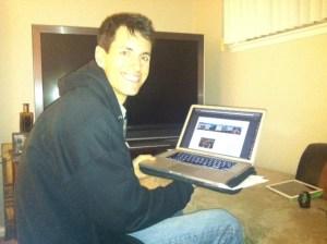 Mike Honing His Techie Skills