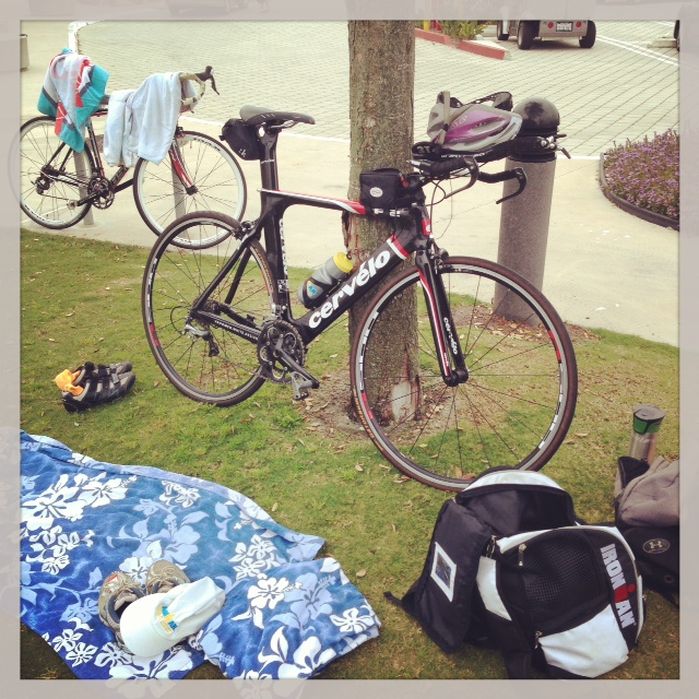 My Transition Area at Practice Triathlo