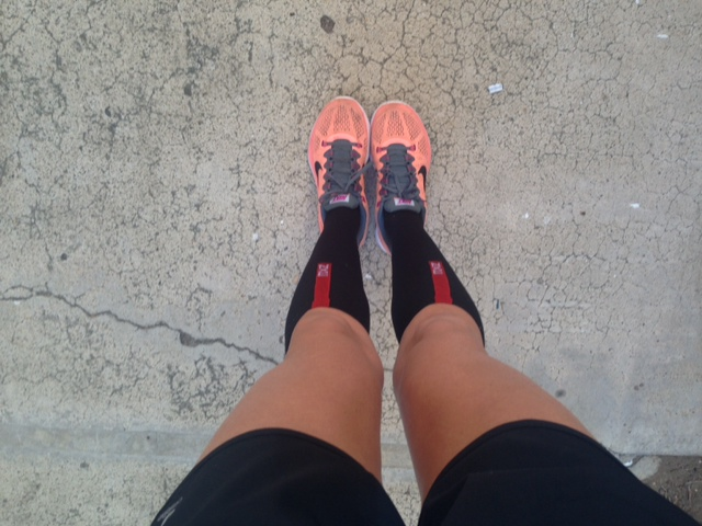 30 minute run on Saturday - first time running in compression socks!