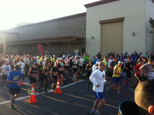 Mike got a photo of us at the start!