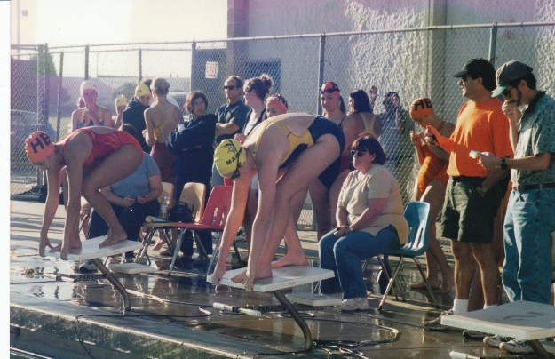 On The Block at a Swim Meet in High School