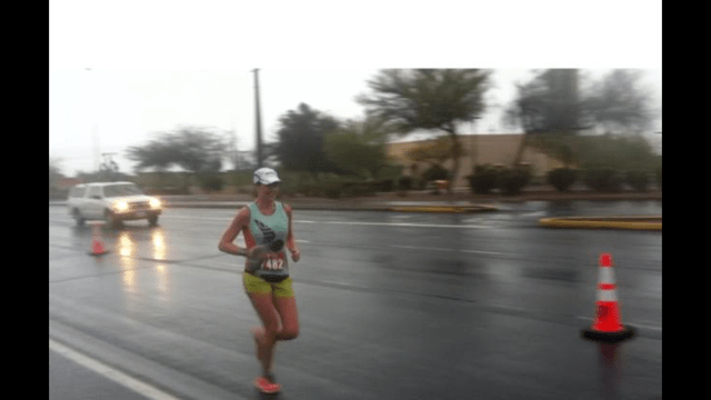 Mike's photo of me around mile 4 - feeling good!