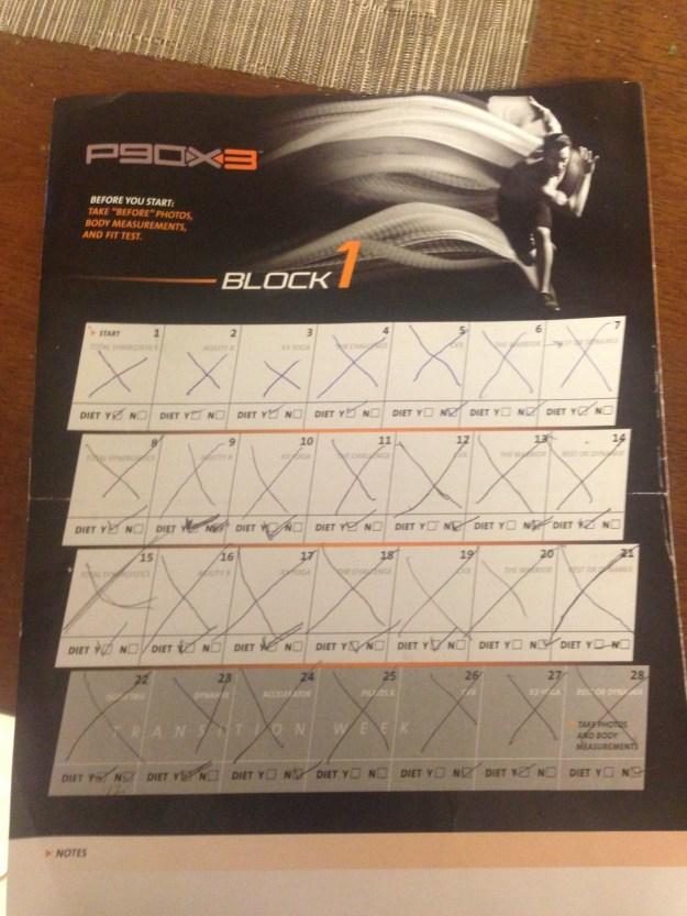 Phase 1 Calendar - Didn't miss a day!