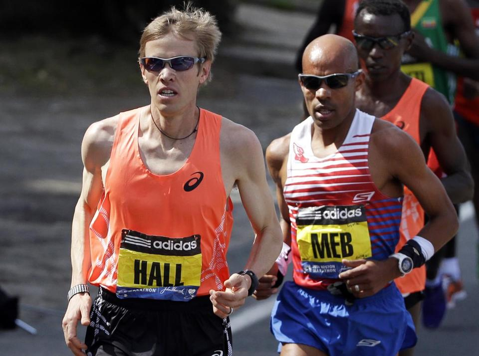 Ryan Hall Running 2014 Boston Marathon Source -Washington Post