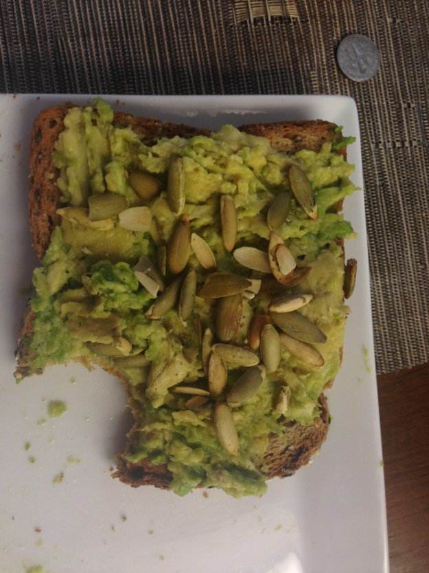 Avocado Toast - so good I couldn't resist biting before the photo