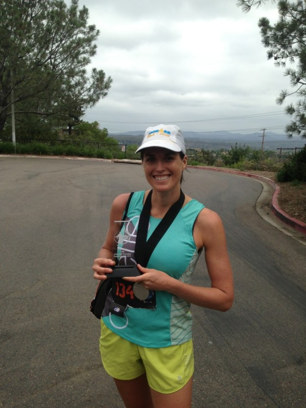 2nd place female at the Carmel Valley Trail 10k!