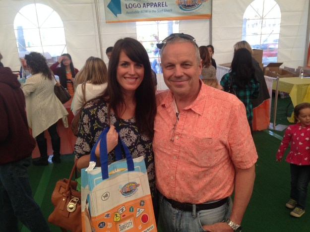 With my Dad at the expo - awesome new grocery bags to take home!