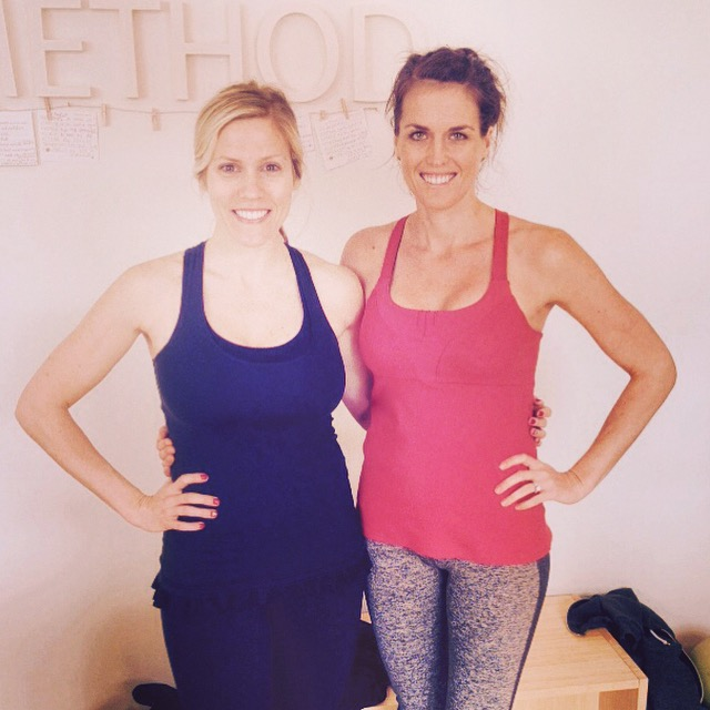 Dailey Method class with my good friend Allison