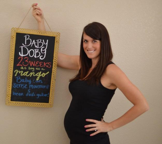 23 weeks pregnant photo