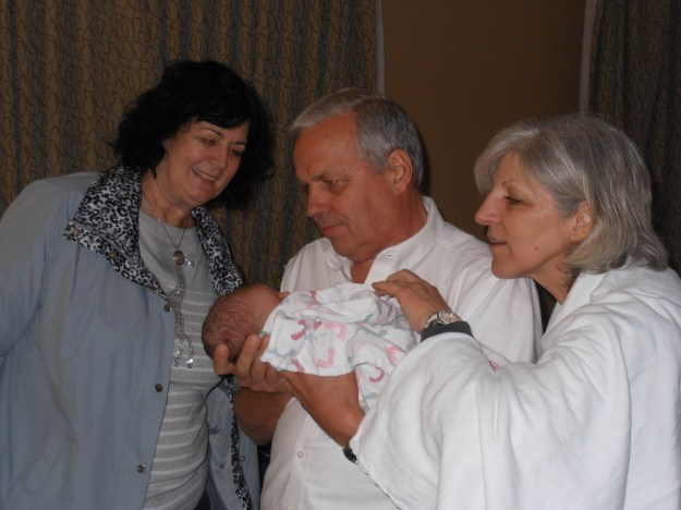 My Mom, Dad and Step Mom Meeting Siena