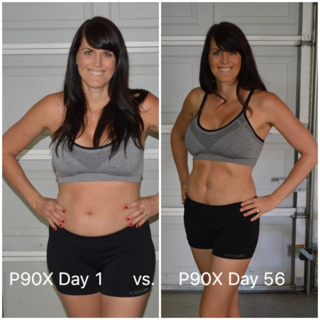 p90x results female phase 2