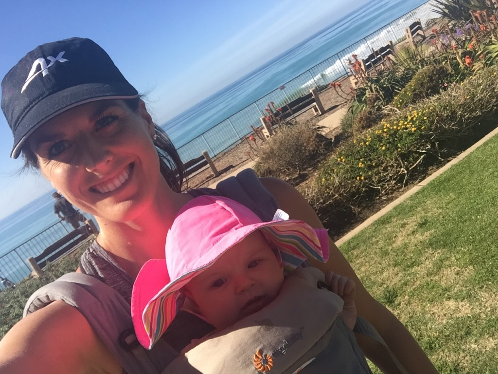 Siena and I headed out for lunch after a sunny Friday run.