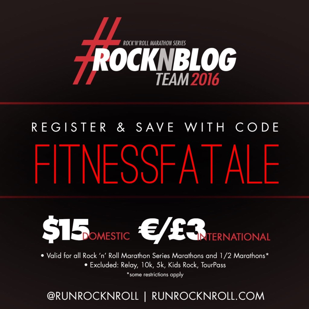 Don't forget that you can still use my code for discounts on most RnR races!