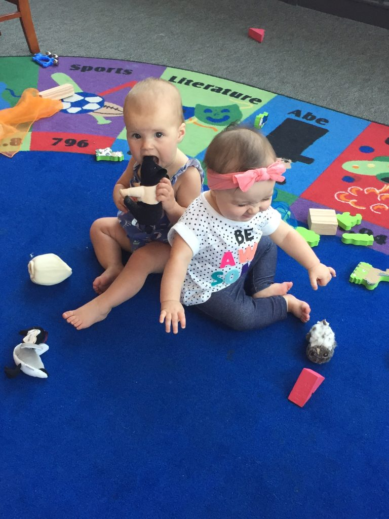 Siena and Charlie at the Solana Beach library