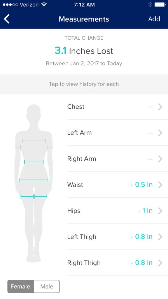 Screen Shot from the Beachbody My Challenge Tracker App